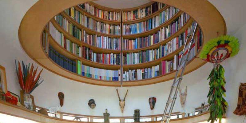 کتابخانه دایره ای شکل ، ایدهای خلاقانه در طراحی داخلی فضاهای کوچک