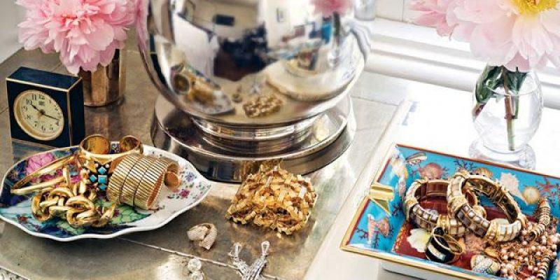 مرتب کردن طلا و جواهرات در دکوراسیون منزل