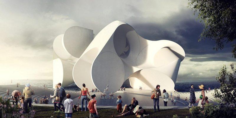 طراحی ساختمان مرکز هنرهای نمایشی به مثابه یک صحنه نمایش کلی