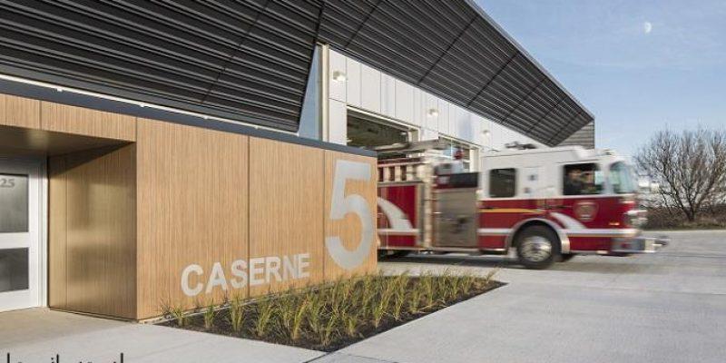 طراحی ایستگاه آتش نشانی شماره ۵ / STGM Architectes + CCM2 Architectes
