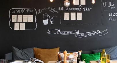 دیوار به رنگ تخته سیاه در طراحی دکوراسیون داخلی