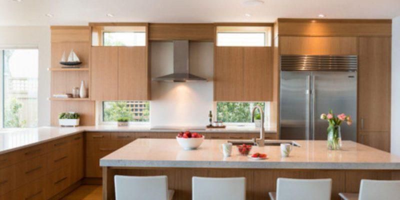 چگونه یک آشپز معاصر را با رنگ گرم طراحی کنیم؟