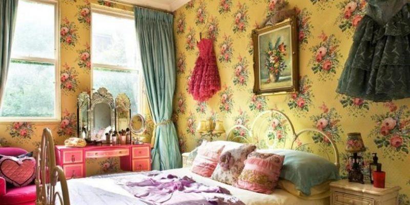 ۱۰ ایده برای استفاده از کاغذ دیواری های گلدار در طراحی اتاق خواب
