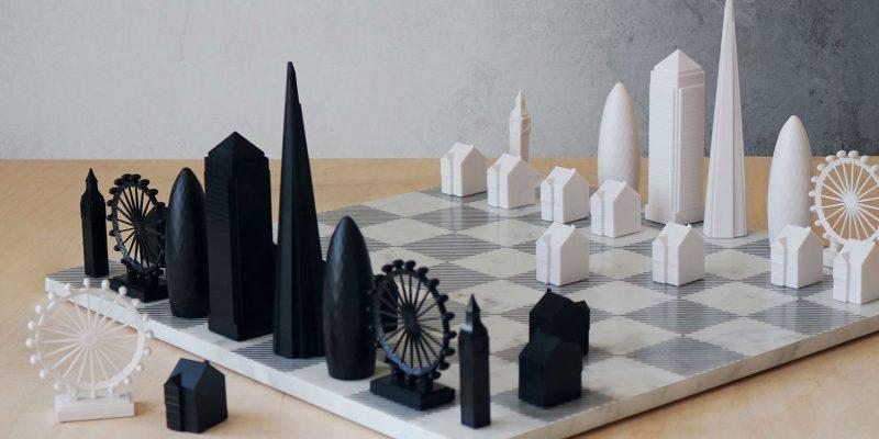 آثار برجسته معماری شهر نیویورک در یک ست شطرنج جدید به نمایش گذاشته شده اند / طراحی Skyline Chess