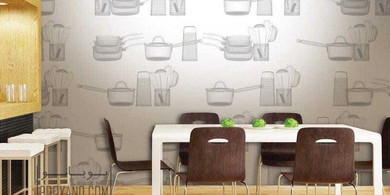 انواع کاغذ دیواری آشپزخانه : مدل های محبوب را بشناسید