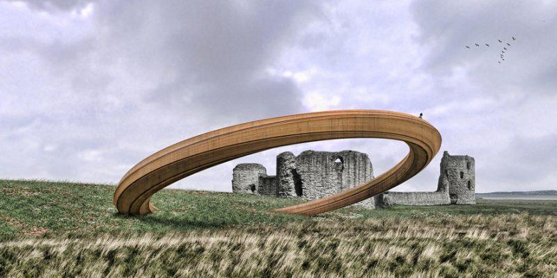 """طراحی سازه تندیس وار """"حلقه آهنی"""" در Wales و توقف پروژه بعد از اعتراضات مردمی"""