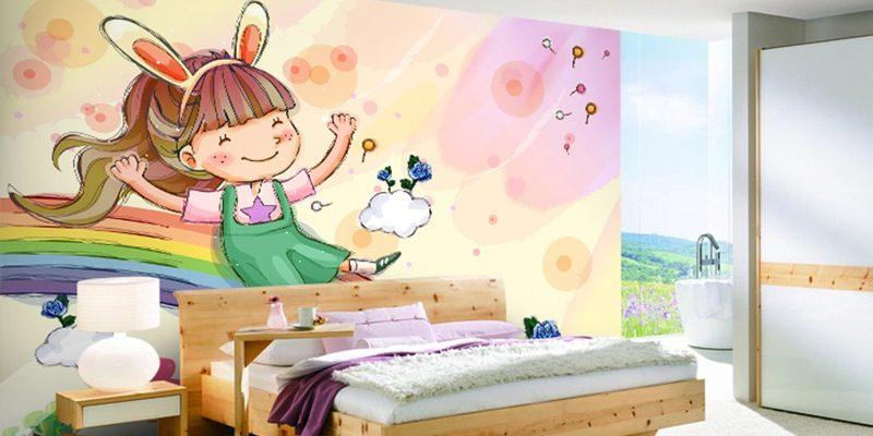 کاغذ دیواری کارتونی یا کاغذدیواری فانتزی : جلوه شاد و جذاب دکوراسیون اتاق کودک شما