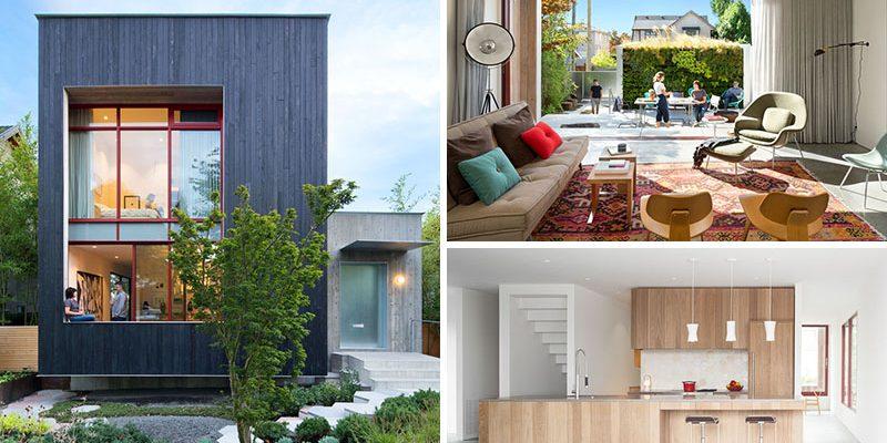 طراحی نما خانه با چوب سرو کربونیزه در ونکوور