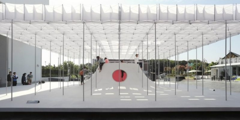 طراحی غرفه شناور یا سازه موقت برای بازی کودکان / شرکت معماری Shen Ting Tseng