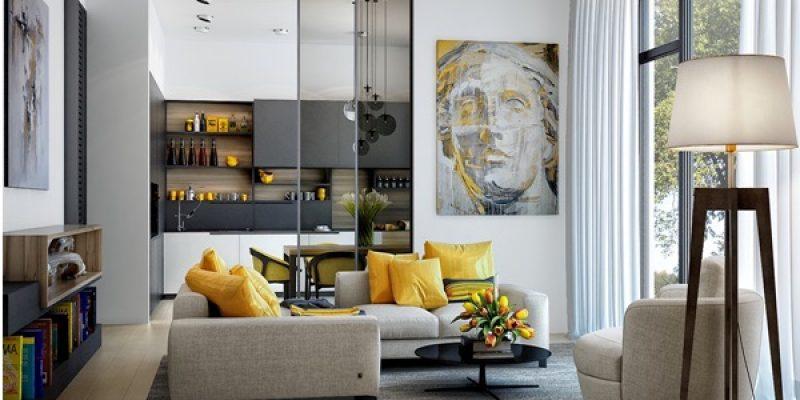 چگونه از رنگ زرد در طراحی اتاق پذیرایی استفاده کنیم؟
