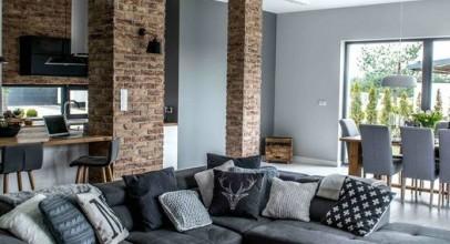 اتاق پذیرایی به رنگ طوسی باعث ایجاد فضایی خیره کننده سالن پذیرایی و نشیمن میشود