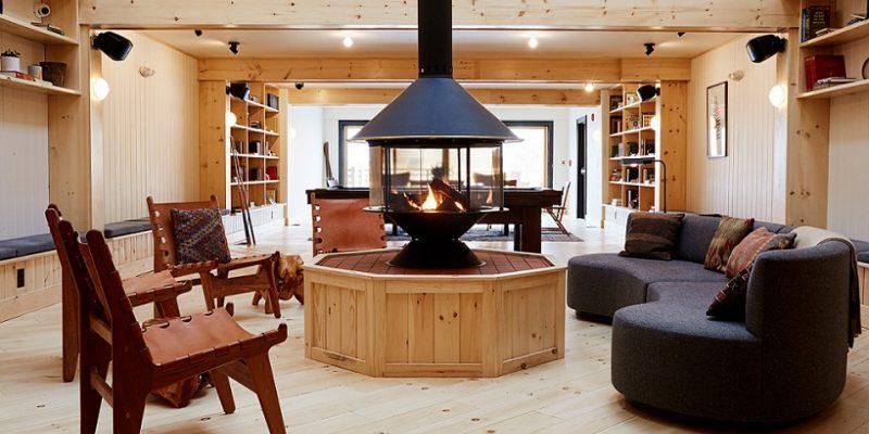 طراحی اقامتگاه در کوه های Catskills نیویورک با بازسازی مهمانخانه وسایل نقلیه / شرکت معماری Tack