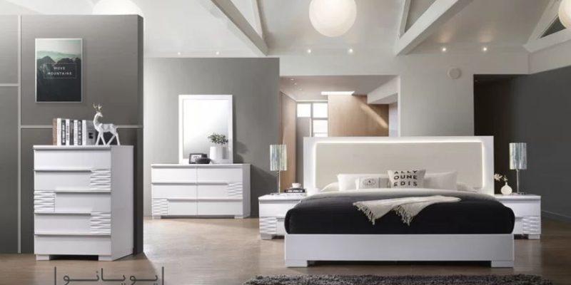 سرویس خواب سفید با بهترین ترکیب رنگ ها در دکوراسیون اتاق خواب