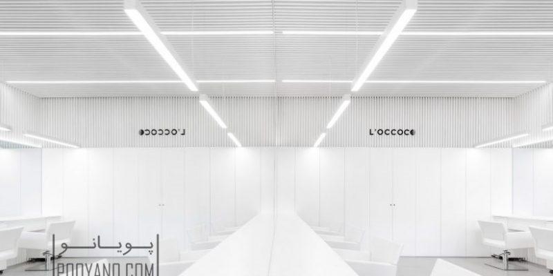 طراحی داخلی تماما سفید در سالن آرایش «لوکوکو» در مکزیک / Abraham Cota Paredes