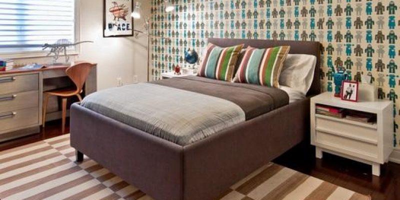 ایده های حرفه ای: اتاق خوابتان را با کاغذ دیواری زیبا و جذاب کنید