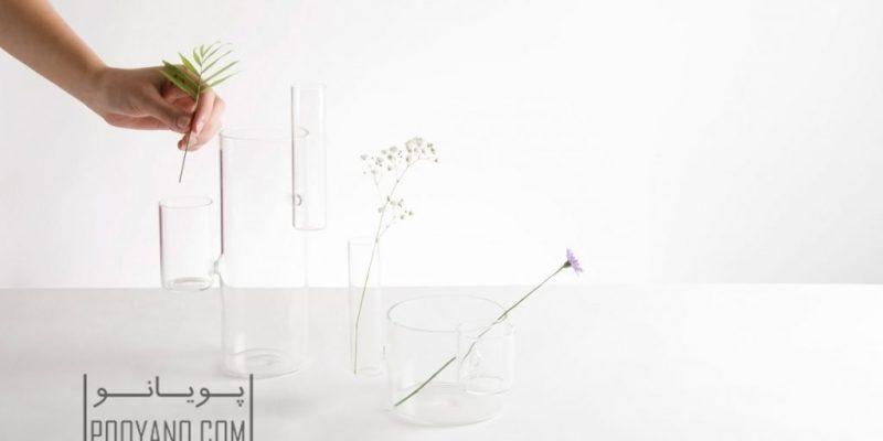 """گلدان های ارگانیک برای """" تجلیل از یگانکی تک شاخه گل در طراحی داخلی """" / طراحی Moises Hernandez"""