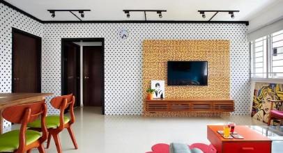 استفاده از رنگ های شاد خاص و منحصربه فرد در طراحی داخلی فضاهای خانه