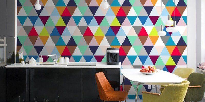 کاغذ دیواری هندسی در طراحی داخلی ، یک انتخاب امروزی و مدرن