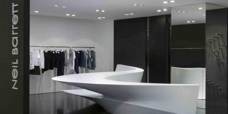 طراحی داخلی فروشگاه Neil Barrett / زاها حدید