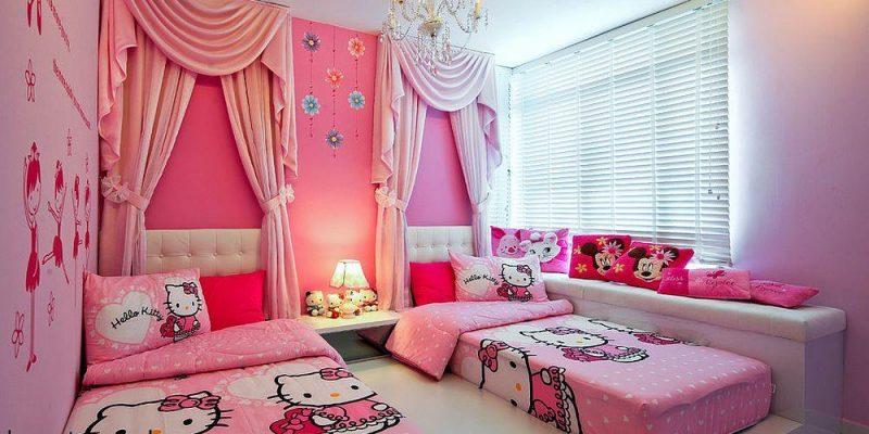 ۱۵ اتاق خواب و تخت خواب با تم هلوکیتی
