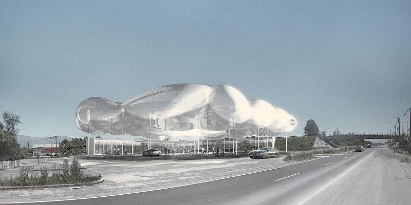 طراحی معماری جایگاه پمپ گاز Raumspielkunst ؛ نسل آینده ایستگاه گاز