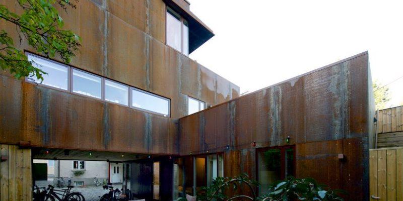 طراحی نمای زنگار زده خانه در اسلو / شرکت معماری Jarmund-Vigsnæs