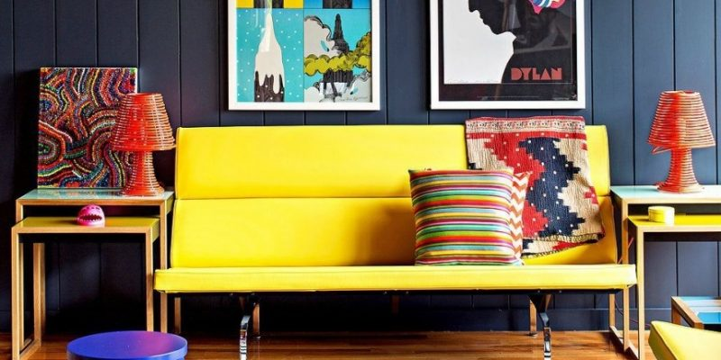 سبک پاپ آرت در طراحی داخلی منزل : با رنگ ها آشتی کنید!