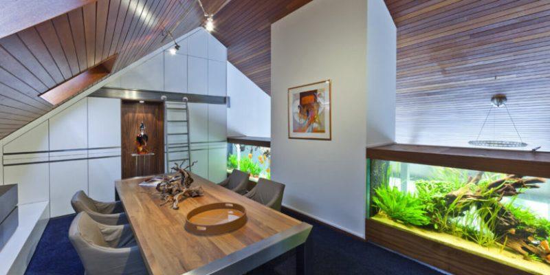 آکواریوم در دکوراسیون داخلی منزل: بهترین محل برای اقیانوس کوچک شما