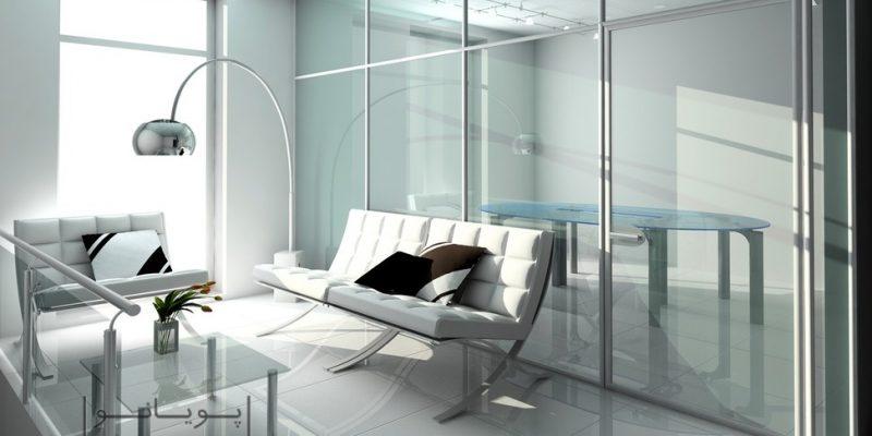 آشنایی با کاربردهای مختلف شیشه در طراحی دکوراسیون داخلی منزل