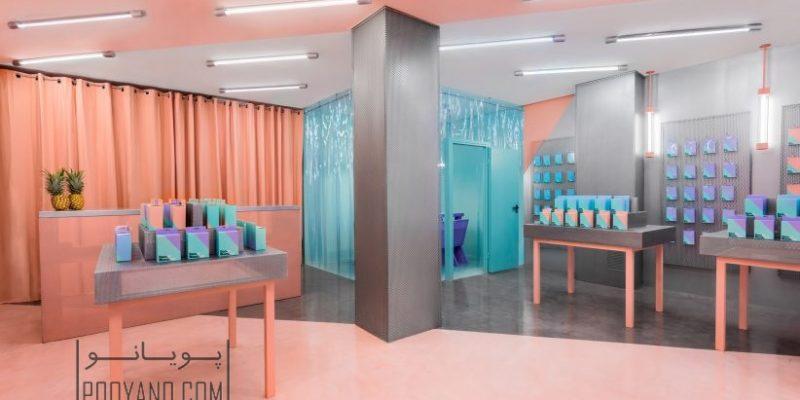 طراحی داخلی فروشگاه تعمیرات موبایل در والنسیا به کمک رنگهای متضاد/ Masquespacio