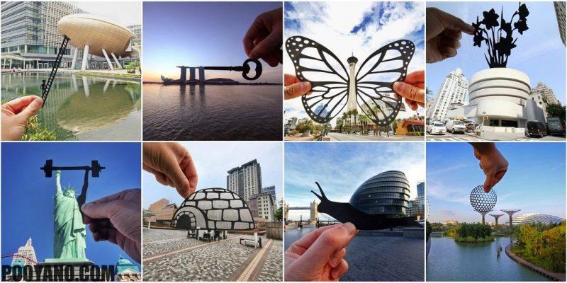 بازتصویرسازی از معماری و مکان های مشهور جهان با برش های کاغذی