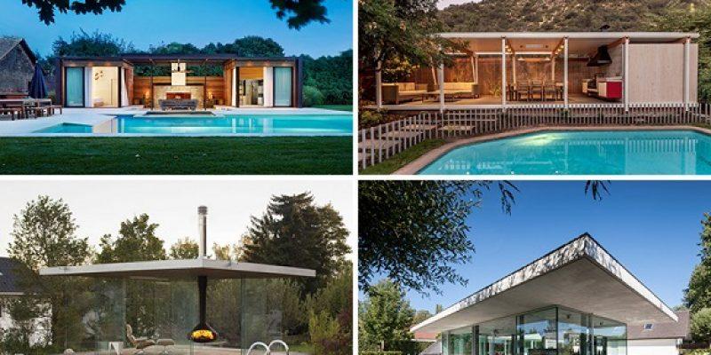 خانه استخر دار مدرن برای تابستان