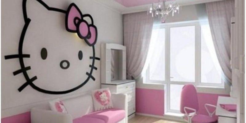 مدل های اتاق خواب کودک با تم هلوکیتی