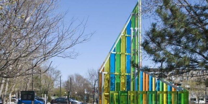 طراحی دیوار شیشه ای پاپا / شرکت معماری Hal Ingberg Architect
