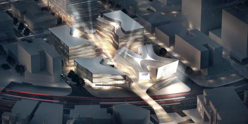 """طراحی ساختمان قطب سرگرمی """"مرکز رویایی"""" در شانگهای / معماران ۳XN"""