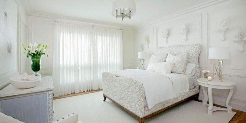 رنگ سفید در طراحی دکوراسیون اتاق خواب