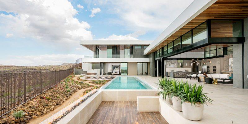 طراحی خانه در دامنه کوه مشرف به لاس وگاس / شرکت معماران SB