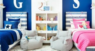 اتاق مشترک دختر و پسر : چند ایده دکوراسیون برای تفکیک و تزیین فضا