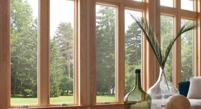 پنجره چوبی در دکوراسیون داخلی : انتخاب دوستداران طبیعت