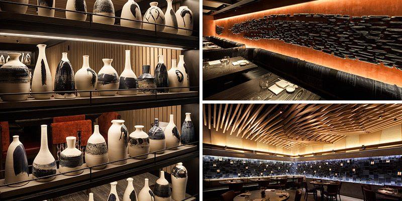 اجرای سرامیک و سفال در طراحی داخلی رستوران در نابو، مرکز شهر نیویورک / توسط Pascale Girardin
