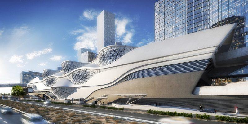 طراحی ایستگاه مترو در منطقه اقتصادی توسط دفتر معماری زاها حدید