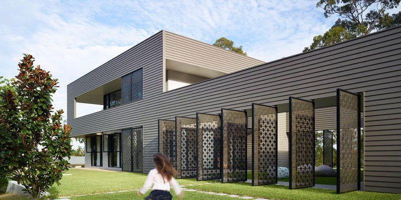 طراحی داخلی و نمای ساختمان با برش لیزر صفحات / استرالیا