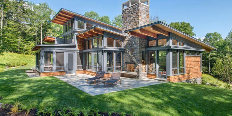 طراحی داخلی خانه جنگلی کوه سبز / معماری توسط معماران Flavin