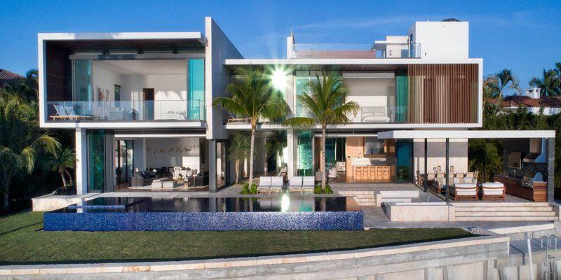 طراحی خانه ساحلی مدرن و جدید در میامی