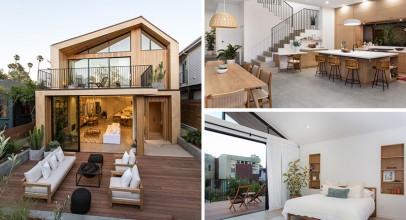 تاثیر معماری اسکاندیناویایی در طراحی داخلی خانه جدید در کالیفرنیا را روشن و خوشایند کرده است