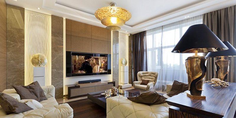 طراحی داخلی لوکس آرت دکو Art Deco در آپارتمان واقع در سنت پترزبورگ