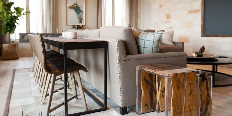 میز پشت مبل Behind Sofa Table و کاربردهای باورنکردنی آن در دکوراسیون منزل