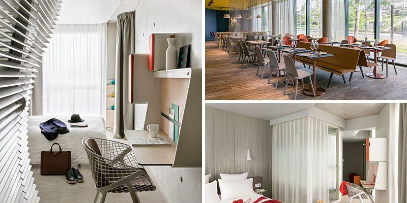 دیزاین داخلی هتل OKKO در Porte de Versailles / معماری Patrick Norguet
