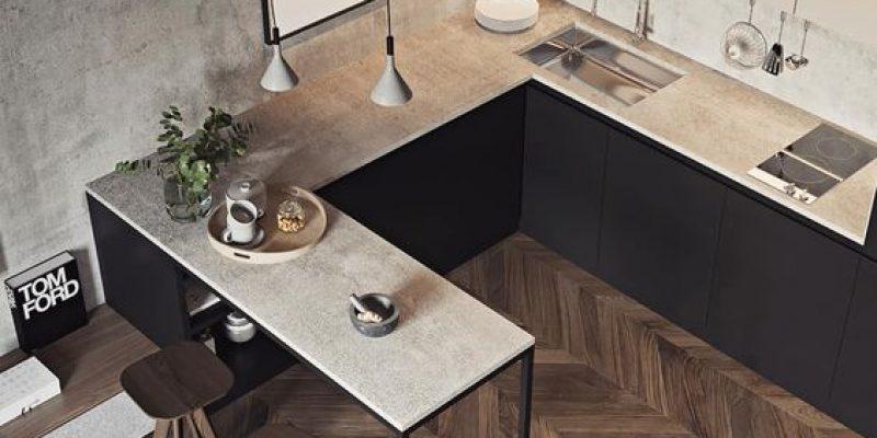 آشپزخانه کم نور و کوچک با ۱۰ راه حل روشنایی بخش
