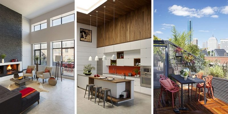 آپارتمان بازسازی شده در بوستون با دیزاینی روشن و باز